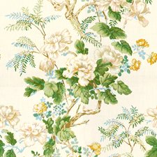 Gold Botanical Drapery and Upholstery Fabric by Lee Jofa
