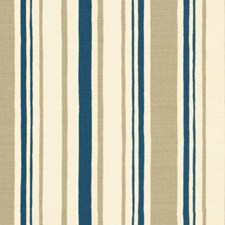 Olive/Blue Stripes Drapery and Upholstery Fabric by Lee Jofa