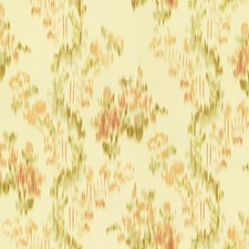 Apricot/Sage Ikat Drapery and Upholstery Fabric by Lee Jofa