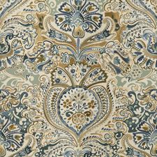 Aqua/Blue Paisley Drapery and Upholstery Fabric by Lee Jofa