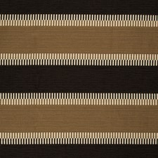 Mocha/Onyx Stripes Drapery and Upholstery Fabric by Lee Jofa