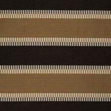 Mocha/Onyx Stripes Drapery and Upholstery Fabric by Lee Jofa