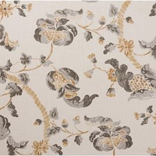 Grey/Beige Jacobeans Drapery and Upholstery Fabric by Lee Jofa