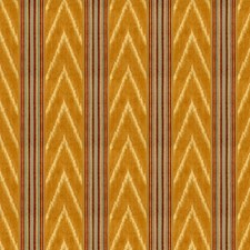 Gold/Red Ikat Drapery and Upholstery Fabric by Lee Jofa
