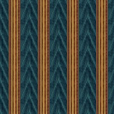 Blue/Red Ikat Drapery and Upholstery Fabric by Lee Jofa