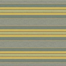 Aqua/Leaf Stripes Drapery and Upholstery Fabric by Lee Jofa