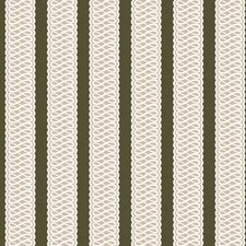 Forest/Taupe Stripes Drapery and Upholstery Fabric by Lee Jofa