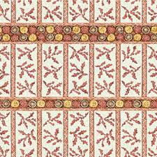 Red Ethnic Drapery and Upholstery Fabric by Lee Jofa