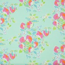 Pool Blue Vegetable Drapery and Upholstery Fabric by Lee Jofa