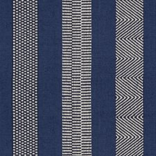 Blue/Indigo Stripes Drapery and Upholstery Fabric by Lee Jofa