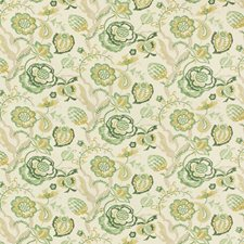 Grass/Gold Botanical Drapery and Upholstery Fabric by Lee Jofa