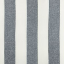Navy Stripes Drapery and Upholstery Fabric by Lee Jofa