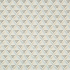 Blue/Beige Geometric Drapery and Upholstery Fabric by Lee Jofa