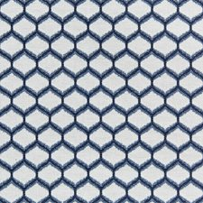 Navy Bargellos Drapery and Upholstery Fabric by Lee Jofa