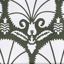 Dark Green Botanical Drapery and Upholstery Fabric by Lee Jofa