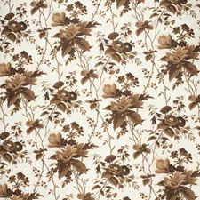 Brown Botanical Drapery and Upholstery Fabric by Lee Jofa