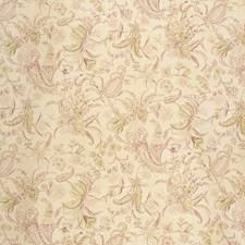 Pink/Gree Botanical Drapery and Upholstery Fabric by Lee Jofa