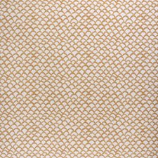 Ochre Geometric Drapery and Upholstery Fabric by Lee Jofa