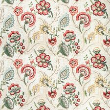 Berry/Gold Botanical Drapery and Upholstery Fabric by Lee Jofa