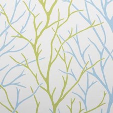 Aqua/Green Leaf Drapery and Upholstery Fabric by Duralee