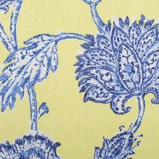 Blue/Yellow Botanical Drapery and Upholstery Fabric by Duralee