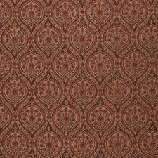 Burgundy/Red/Beige Ethnic Drapery and Upholstery Fabric by Kravet