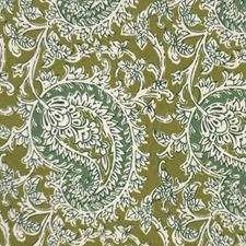 Leaf Green Drapery and Upholstery Fabric by RM Coco