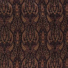 Blue/Yellow/Burgundy Paisley Drapery and Upholstery Fabric by Kravet