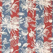 Denim/P Botanical Drapery and Upholstery Fabric by Groundworks