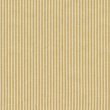 Yellow/Beige Stripes Drapery and Upholstery Fabric by Kravet