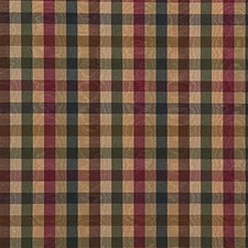 Green/Beige/Burgundy Plaid Drapery and Upholstery Fabric by Kravet