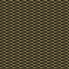 Olive Metal Geometric Drapery and Upholstery Fabric by S. Harris