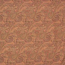 Brown/Rust/Yellow Paisley Drapery and Upholstery Fabric by Kravet