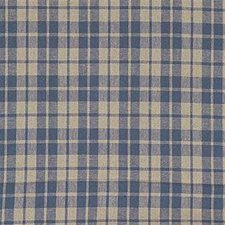 Indigo Plaid Drapery and Upholstery Fabric by Kravet