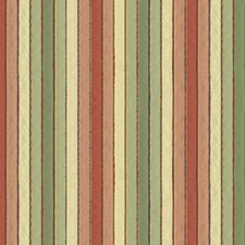 Beige/Light Green/Pink Stripes Drapery and Upholstery Fabric by Kravet