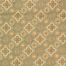 Blue/Beige Damask Drapery and Upholstery Fabric by Kravet