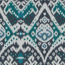 Batik Blue Drapery and Upholstery Fabric by Robert Allen