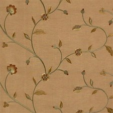 Yellow/Green/Burgundy Botanical Drapery and Upholstery Fabric by Kravet