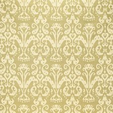 Chartreuse Ikat Drapery and Upholstery Fabric by Kravet