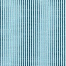 Azure CHATHAM STRIPES Drapery and Upholstery Fabric by Scalamandre