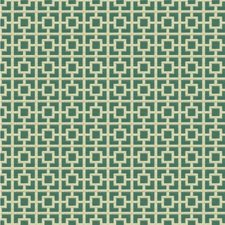 Teal/Beige Contemporary Drapery and Upholstery Fabric by Kravet