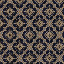 Indigo Damask Drapery and Upholstery Fabric by Kravet