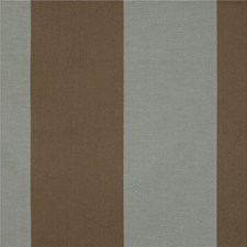 Brown/Light Blue Stripes Drapery and Upholstery Fabric by Kravet