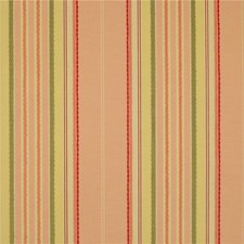 Pink/Gold/Light Green Stripes Drapery and Upholstery Fabric by Kravet