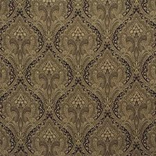 Coffee Damask Drapery and Upholstery Fabric by Kravet