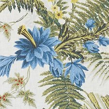 Blue Drapery and Upholstery Fabric by Robert Allen /Duralee