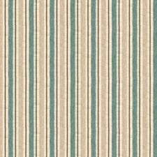 White/Light Green/Beige Stripes Drapery and Upholstery Fabric by Kravet