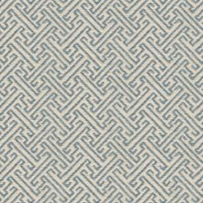 Beige/Blue Asian Drapery and Upholstery Fabric by Kravet