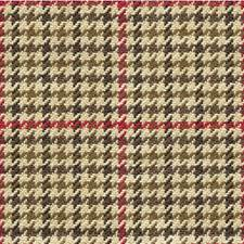 Beige/Brown/Burgundy Check Drapery and Upholstery Fabric by Kravet