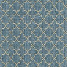 Blue/Light Blue/Beige Ethnic Drapery and Upholstery Fabric by Kravet